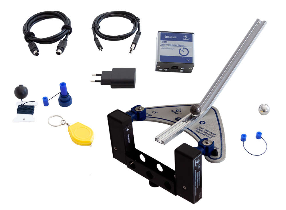 Conjunto rampa de lançamentos horizontais, multicronômetro Bluetooth