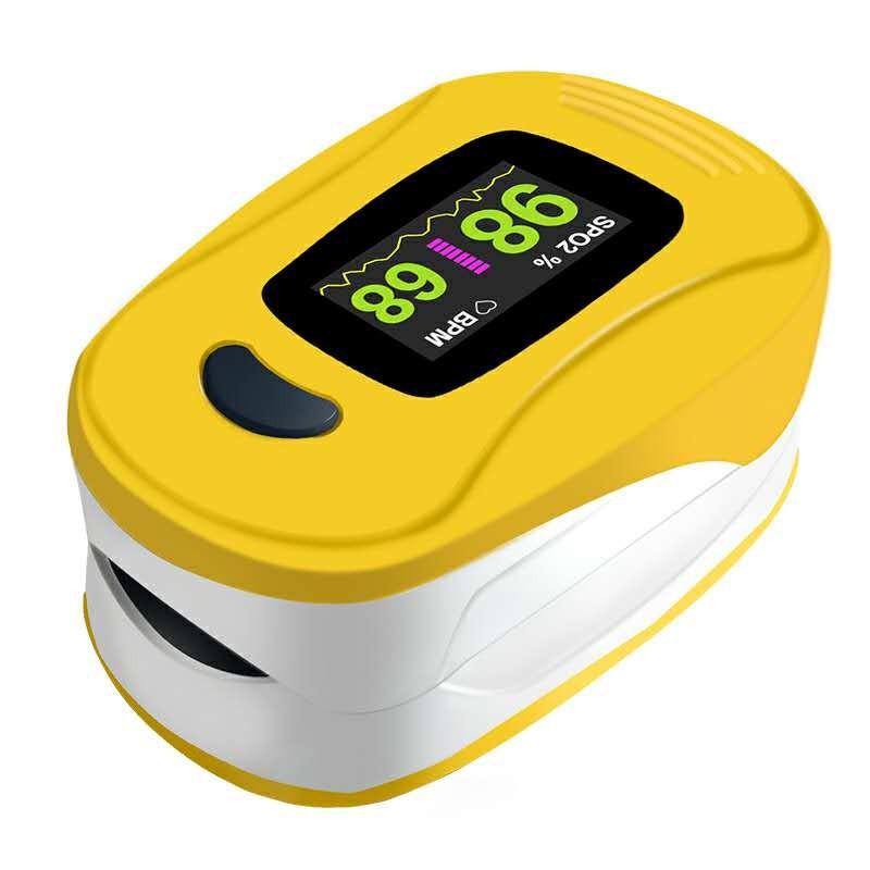 Oxímetro de Pulso Portátil NCS Monitor de Dedo A3 Amarelo