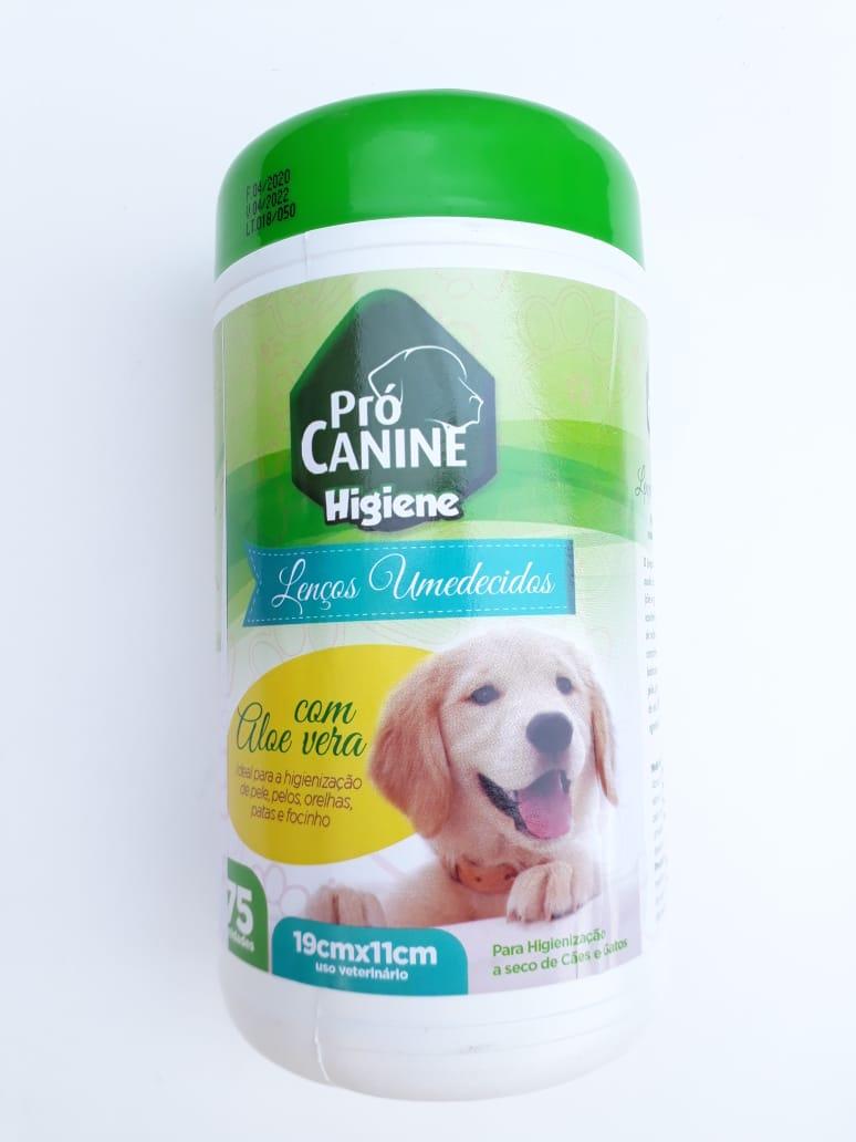 Lenços Umedecidos Pró Canine Higienização para cães e gatos