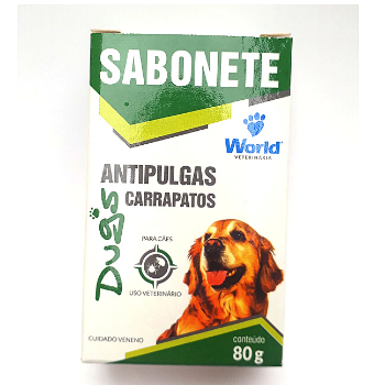 Sabonete Dugs Antipulgas - World