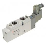 VALVULA SOLENOIDE SY9120-4D-02 5/2X1/4 220VAC - SMC
