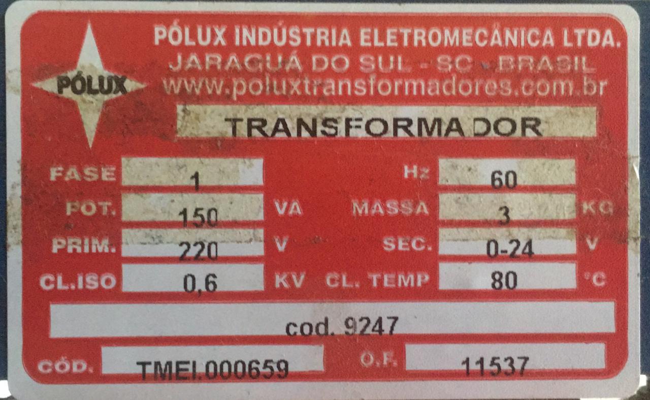 TRANSFORMADOR 150VA 220V  - Riberpack