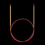 Agulha Circular Lace ponta dourada - Addi 755-7
