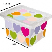 Caixa para Organizadora Coração - 2,30 Lts - 13,2 x 12 x 19,8 - OR18L