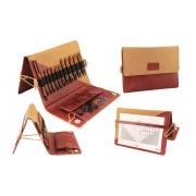 Conjunto Ginger KnitPro de agulhas circulares Intercambiáveis - Curtas