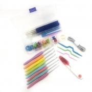 Kit Agulha de crochê com cabo e acessórios - Lanmax