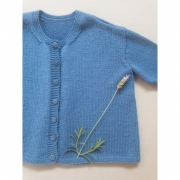 Kit Sophia's Cardigan - Tamanho 8 anos - Baby Merino Superwash - Lanafil