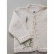 Kit White Flower Cardigan - Nevada - Filatura Cervinia