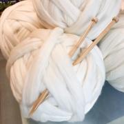Merino em Mecha para manta de tricô