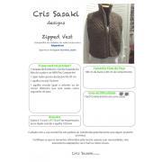 Receita de Tricô Zipped Vest - Empório das Lãs