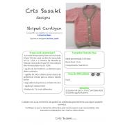 Receita Striped Cardigan - Empório das Lãs