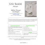 Receita White Flower Cardigan - Empório das Lãs
