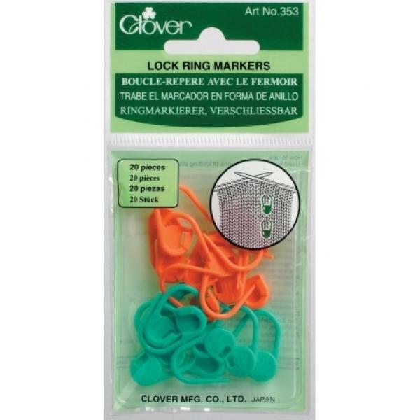 Cadeado marcador de pontos para tricô e crochê - Clover 353