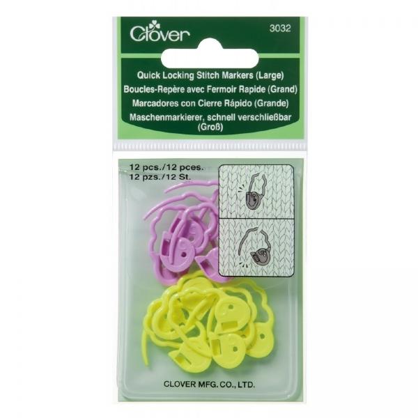 Cadeado marcador de pontos Grande para tricô e crochê- Clover 3032