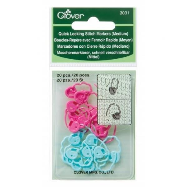 Cadeado marcador de pontos médio para tricô e crochê - Clover 3031