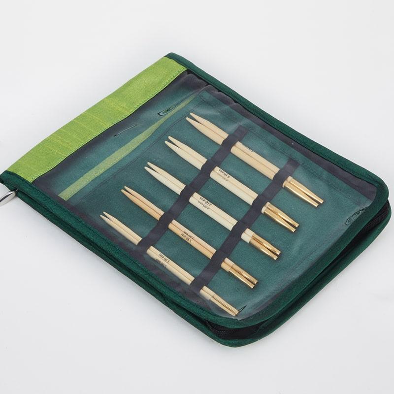 Conjunto Bambu KnitPro de agulhas circulares Intercambiáveis Starter