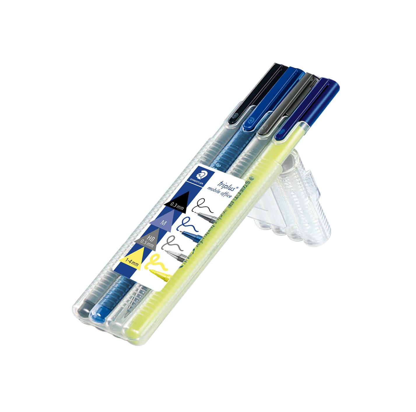 Conjunto misto de instrumentos de escrita triangulares - Triplus Mobile Office 34 - Staedtler