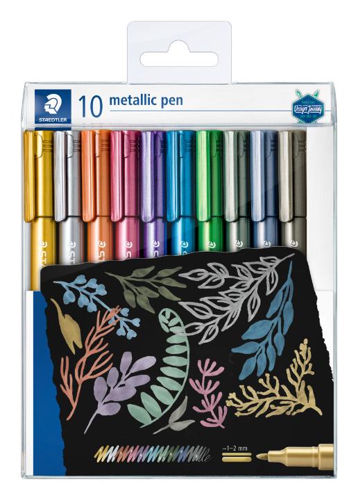 Estojo contendo 10  canetas metálicas 8323 - Staedtler