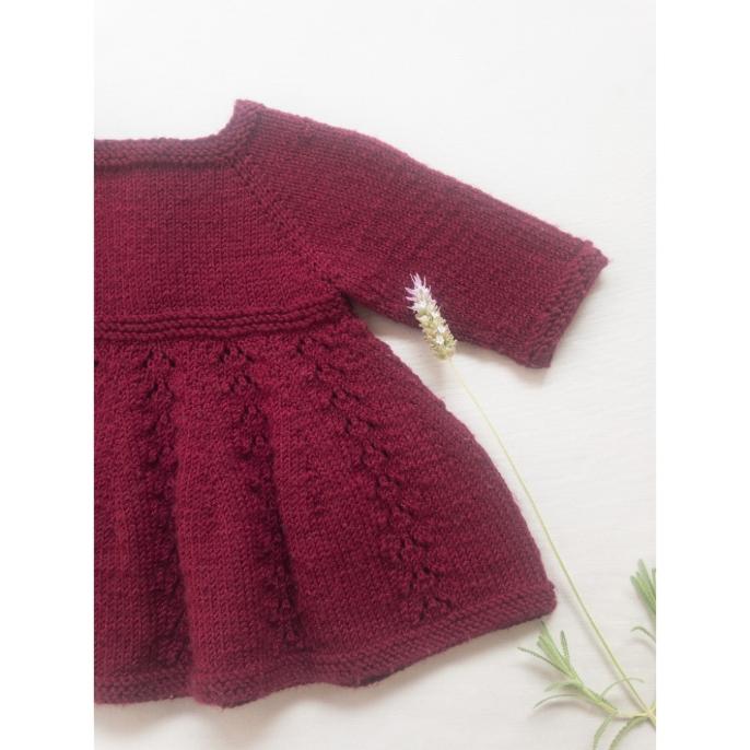 Kit Alice Dress - Baby Merino Superwash - Lanafil