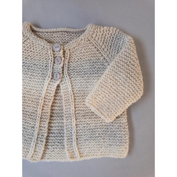 Kit Angel Cardigan - Tamanho 9 e 12 meses - Catena Primula - Lanafil