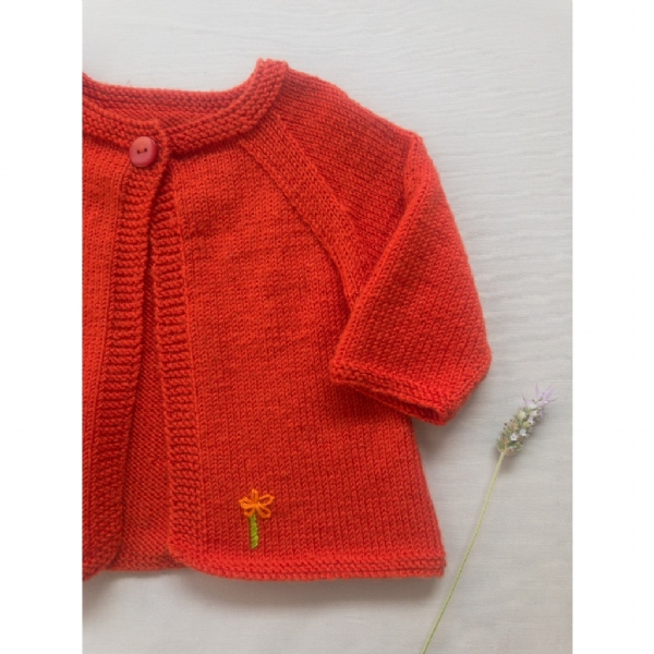 Kit Daisy Jacket - Baby Merino Superwash - Lanafil