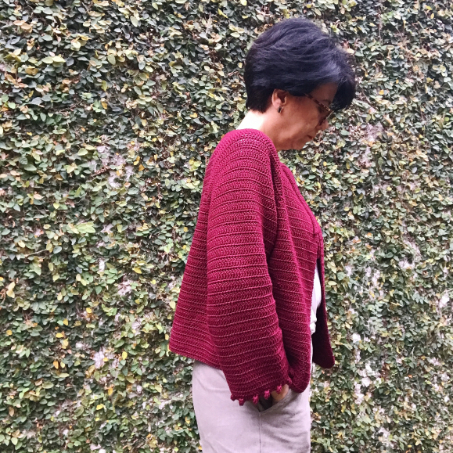 Kit Easy Crochet Cardigan - Tamanho P - Tomie