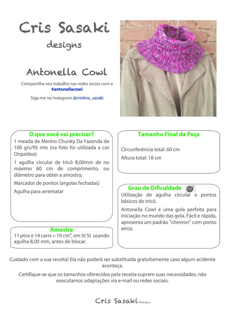 Receita Antonella Cowl - Empório das Lãs