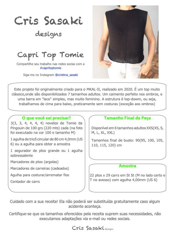 Receita Capri Top Tomie - Empório das Lãs