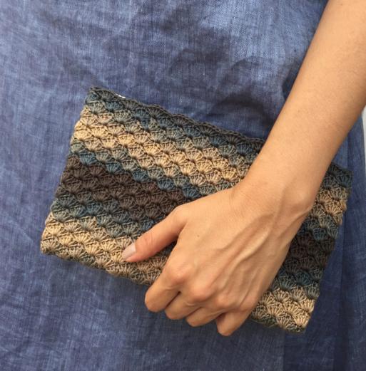 Receita de Crochê Clutch Bella - Empório das Lãs