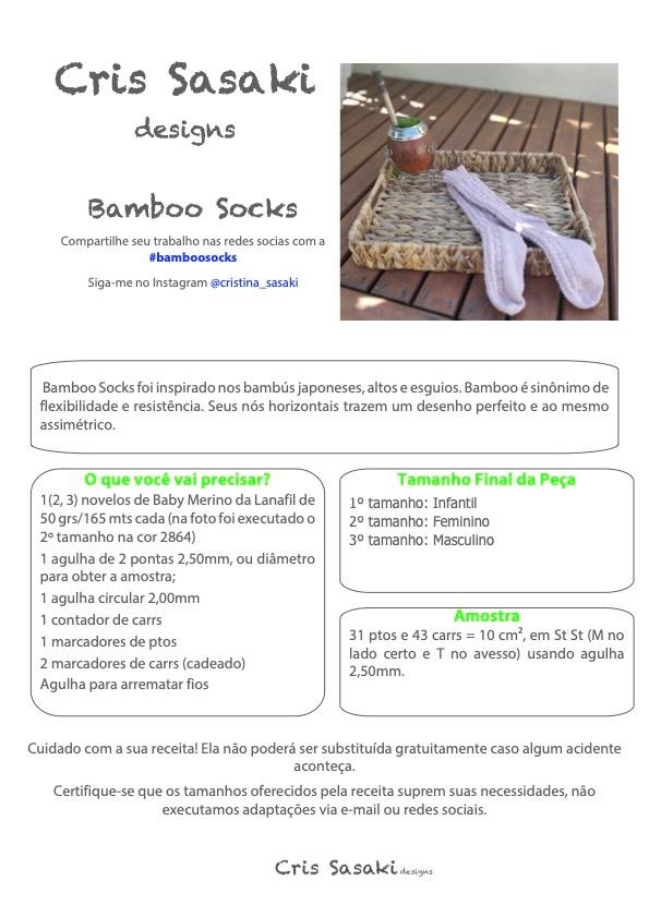 Receita de Tricô Bamboo Sock - Empório das Lãs