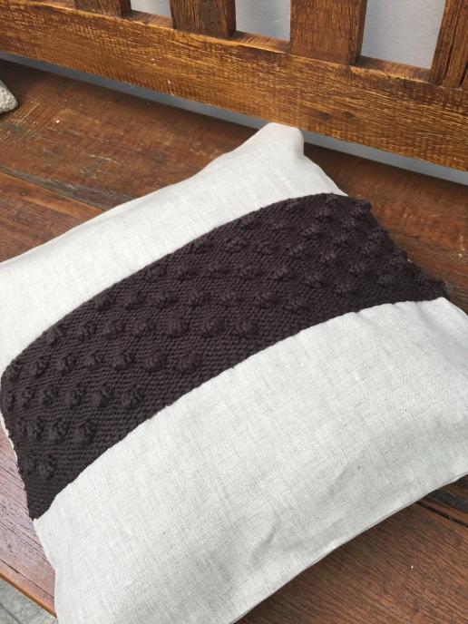 Receita de Tricô Bobble Cushion - Empório das Lãs