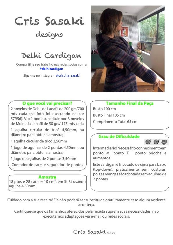 Receita de Tricô Delhi Cardigan - Empório das Lãs