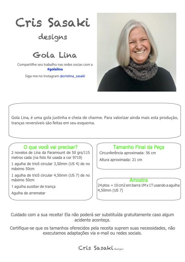 Receita de Tricô Gola Lina - Empório das Lãs