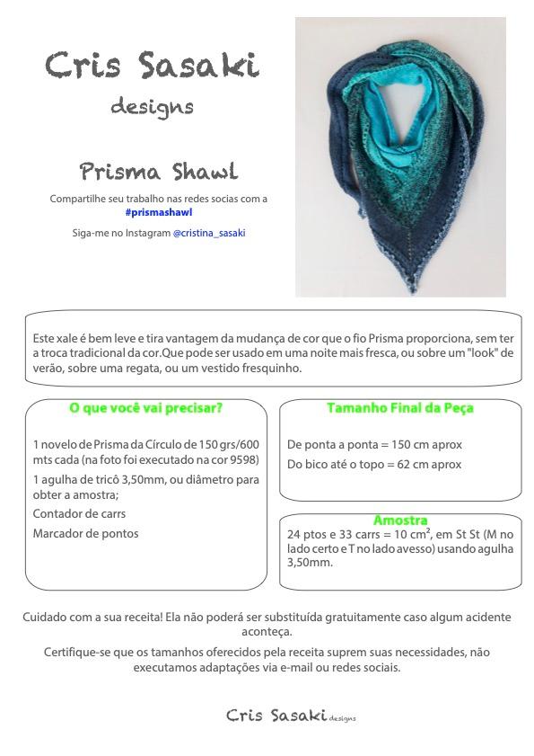 Receita de Tricô Prisma Shawl - Empório das Lãs