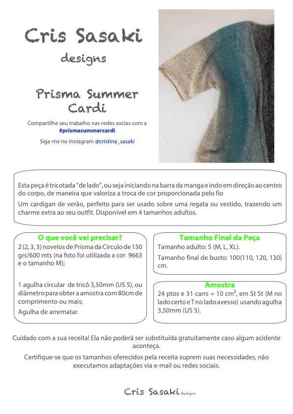 Receita de Tricô Prisma Summer Cardi - Empório das Lãs