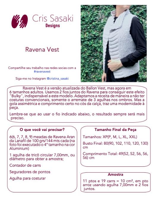 Receita de Tricô Ravena Vest - Empório das Lãs