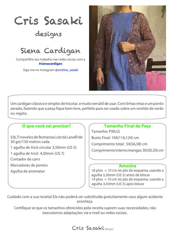 Receita de Tricô Siena Cardigan - Empório das Lãs