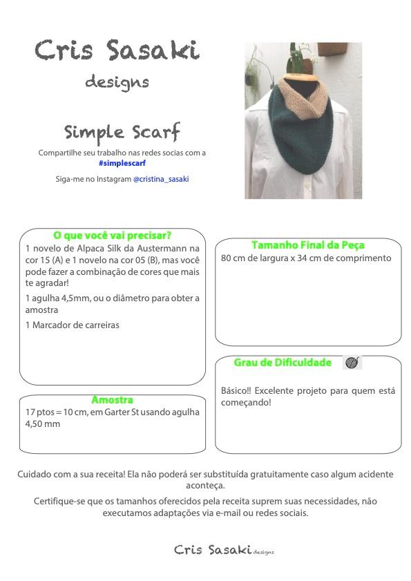 Receita de Tricô Simple Scarf - Empório das Lãs