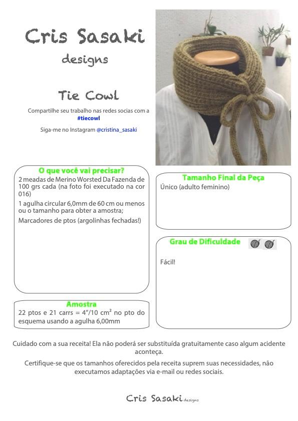Receita de Tricô Tie Cowl- Empório das Lãs
