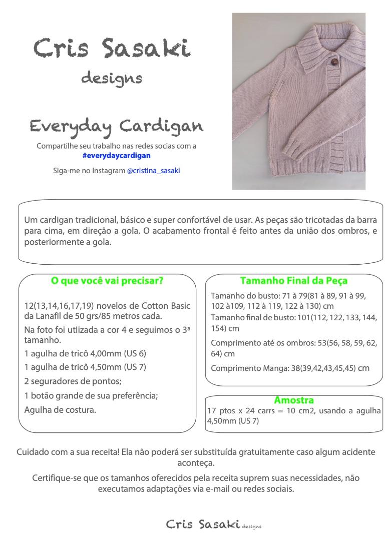 Receita Everyday Cardigan - Empório das Lãs