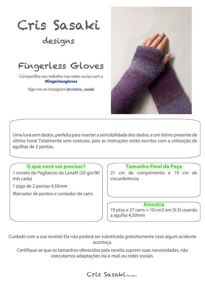 Receita Fingerless Gloves - Empório das Lãs