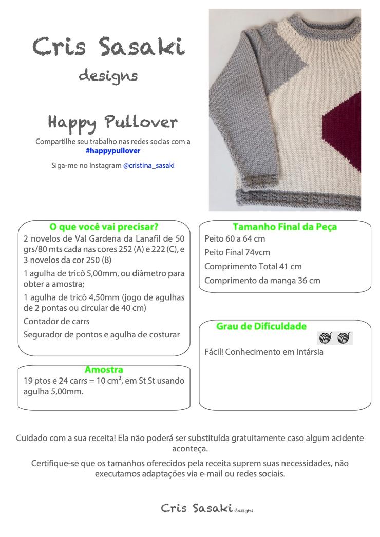 Receita Happy Pullover - Empório das Lãs