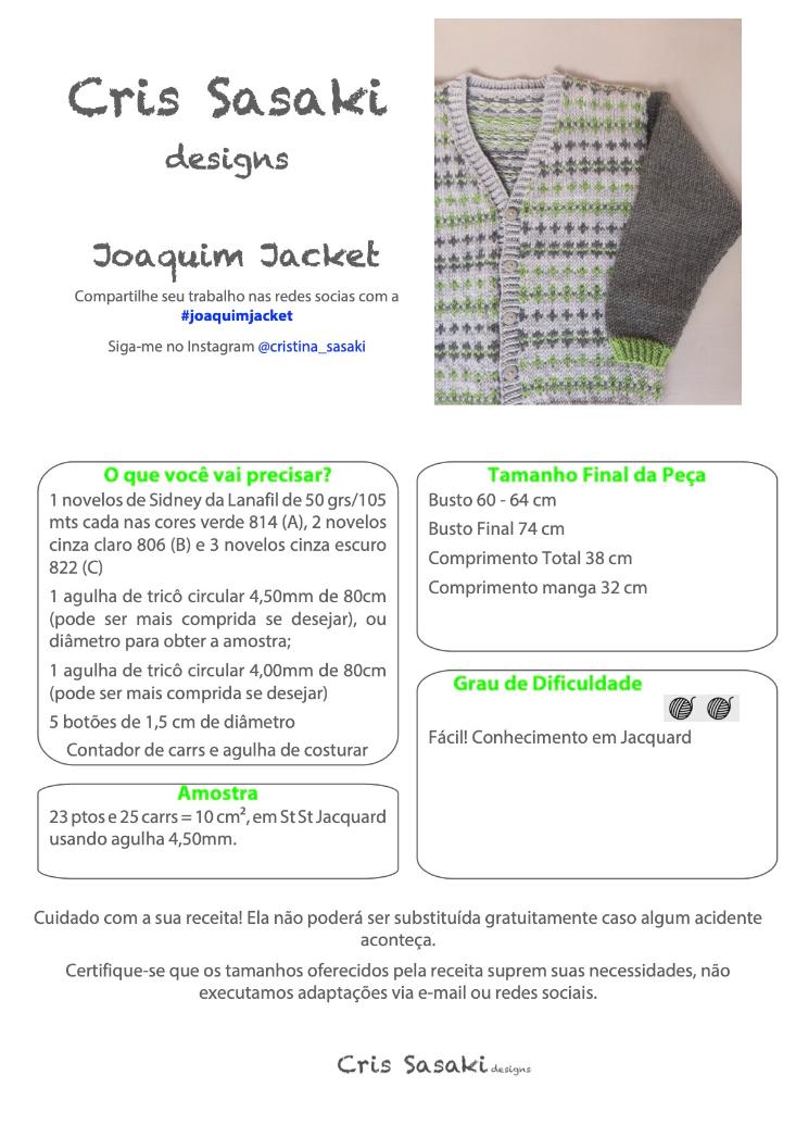 Receita Joaquim Jacket - Empório das Lãs