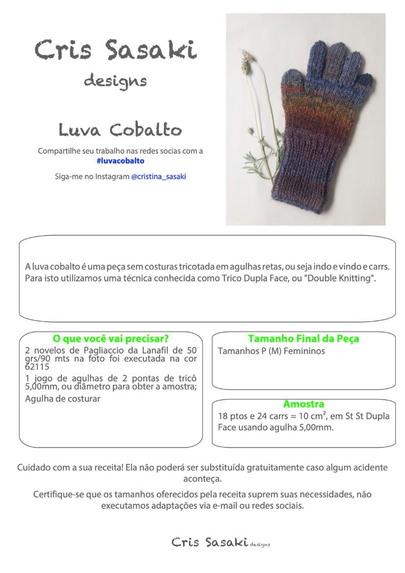 Receita Luva Cobalto - Empório das Lãs