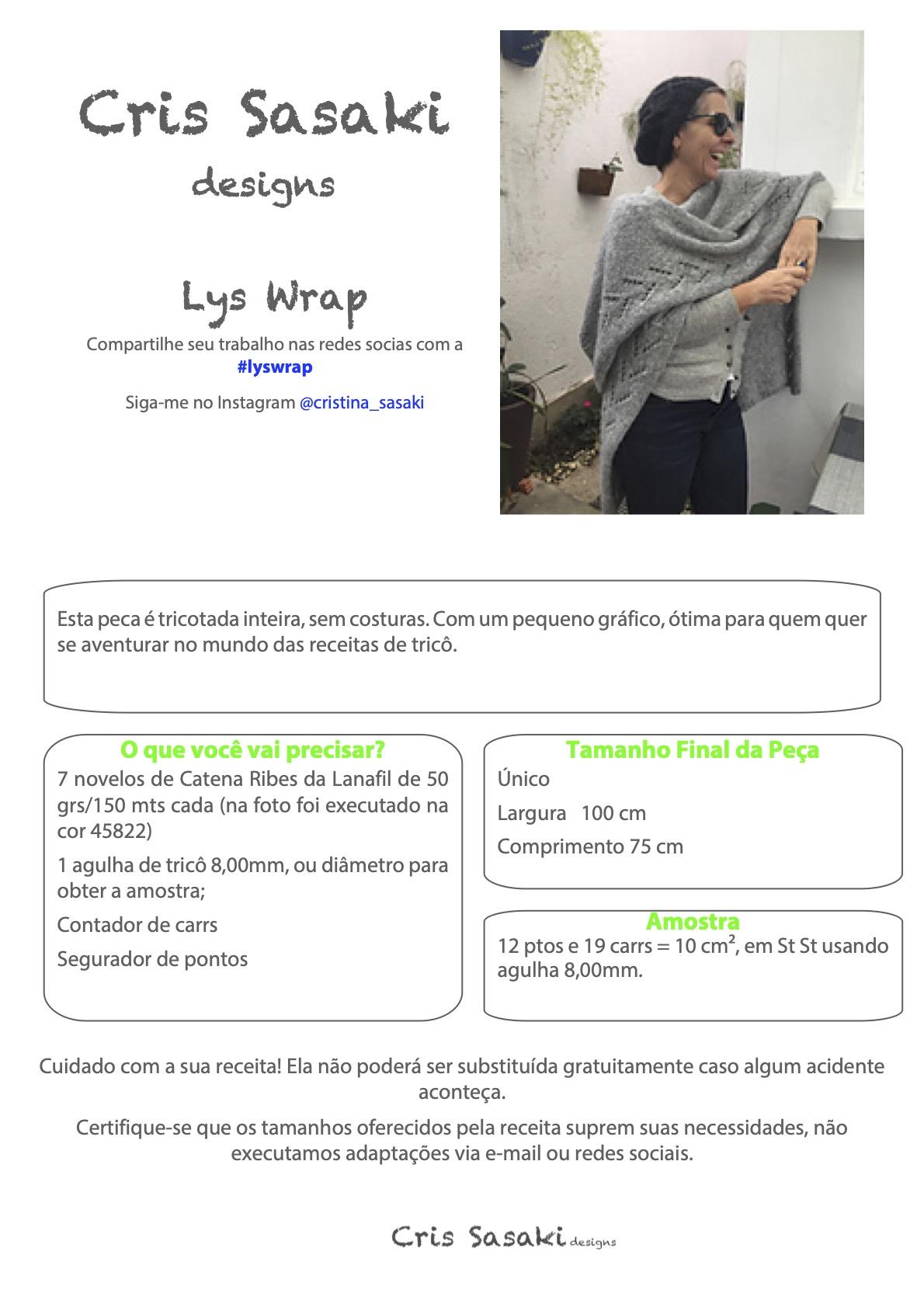 Receita Lys Wrap - Empório das Lãs