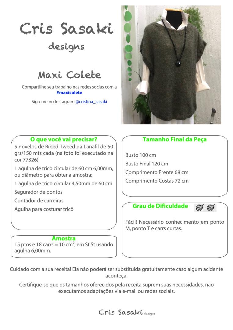 Receita Maxi Colete - Empório das Lãs
