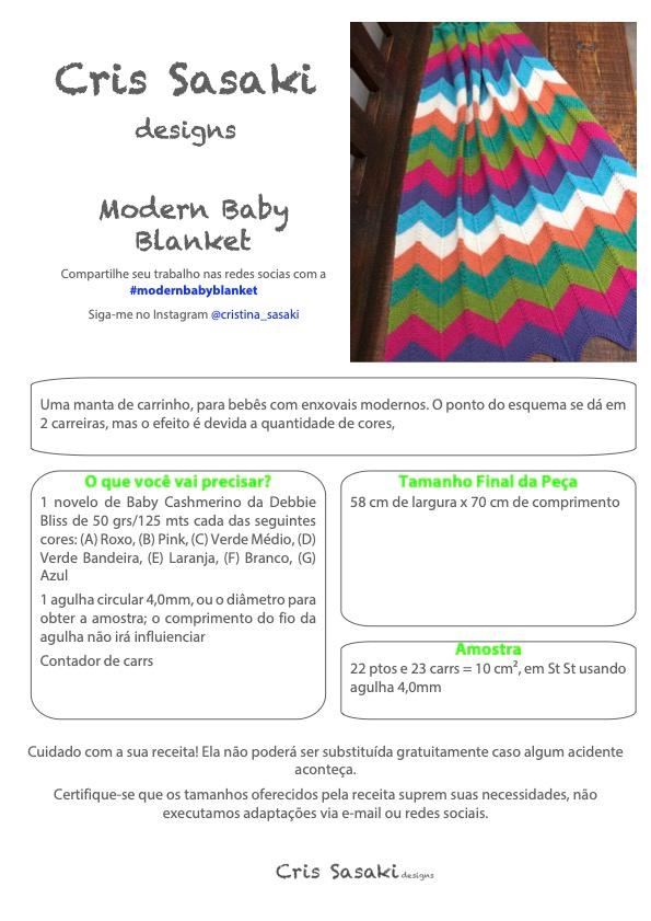 Receita Modern Baby Blanket - Empório das Lãs