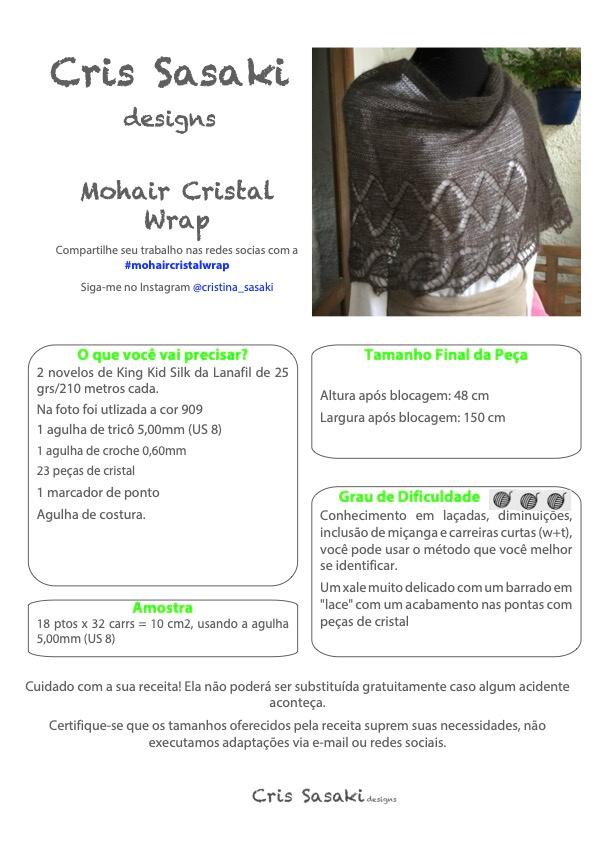 Receita Mohair Cristal Wrap - Empório das Lãs