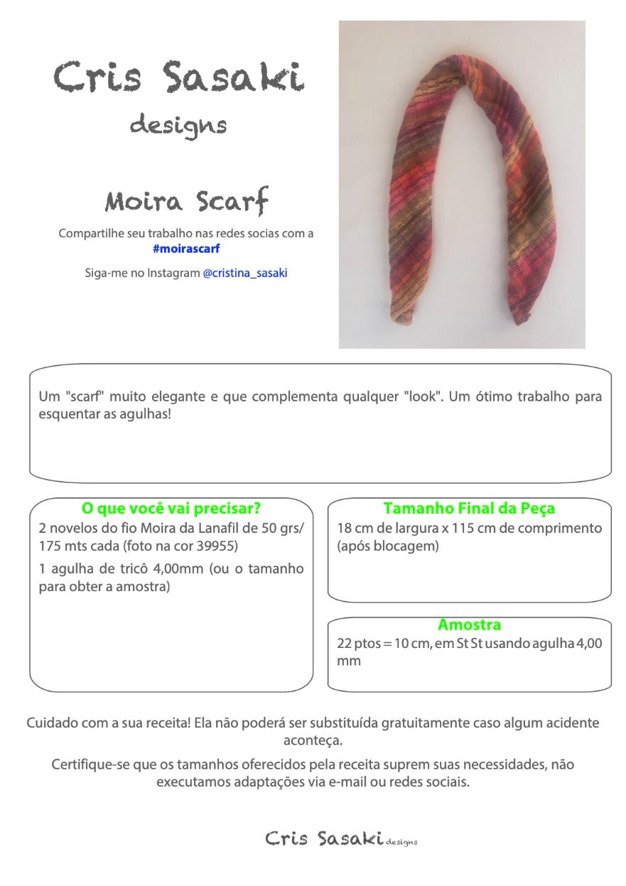 Receita Moira Scarf - Empório das Lãs