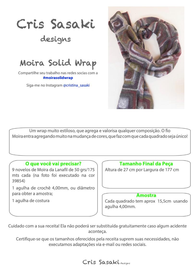Receita Moira Solid Wrap - Empório das Lãs